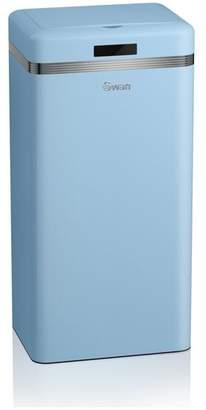 Swan 45 Litre Sensor Bin - Blue