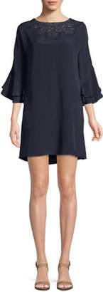Kobi Halperin Fatima Lace-Yoke Silk Dress