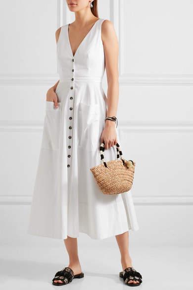 Saloni - Zoe Cutout Cotton-blend Dress - White 3