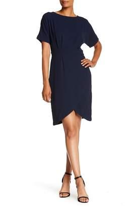 Bobeau Short Dolman Sleeve Wrap Dress