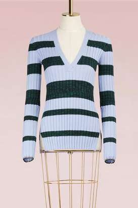 Proenza Schouler Wool Sweater with Fine Rib