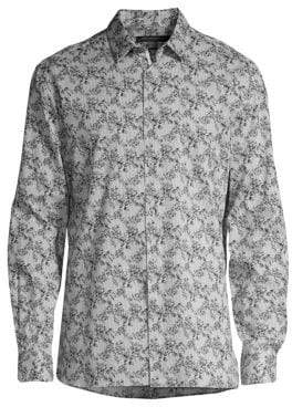 John Varvatos Floral Stripe Button-Down Shirt