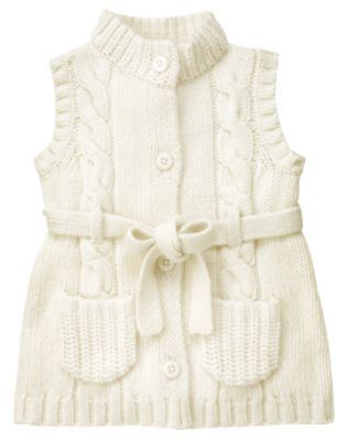 Belted Cable Sweater Vest