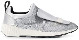 Sergio Rossi sequin embellished slip-on sneakers