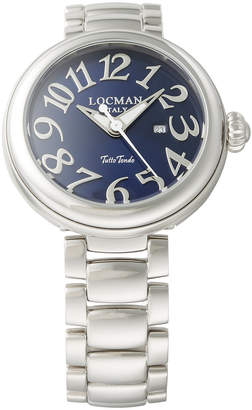 Locman (ロックマン) - LOCMAN ラウンドウォッチ デイト表示 ケース:ブルー ベルト:シルバー