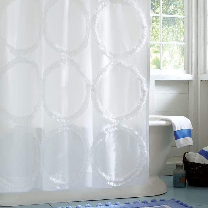 Ruffle Rings Shower Curtain