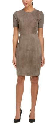 Elie Tahari Suede Sheath Dress