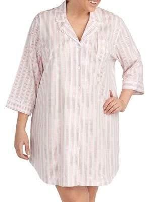 Lauren Ralph Lauren Plus Printed Cotton Sleepshirt