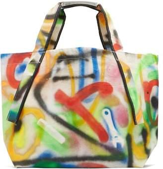 Hillier Bartley - X Ed Curtis Graffiti Canvas Tote - Womens - Multi