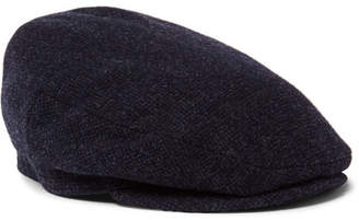 Lock & Co Hatters Oslo Mélange Wool and Alpaca-Blend Tweed Flat Cap