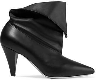 Givenchy Fold-over Leather Ankle Boots - Black