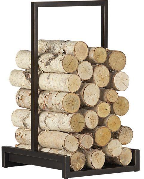 Crate & Barrel Alton Bronze Log Holder
