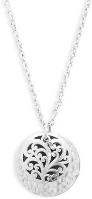 Lois Hill Women's Sterling Silver Hammered Scroll Pendant Necklace