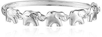 Sterling Silver Elephant Bangle Bracelet