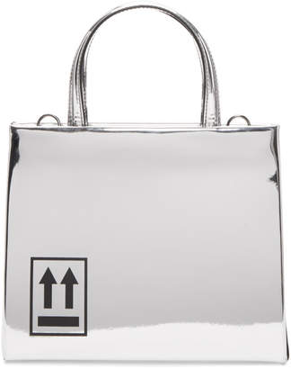 Off-White Silver Mini Mirror Box Bag