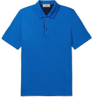 Canali Wool-Piqué Polo Shirt