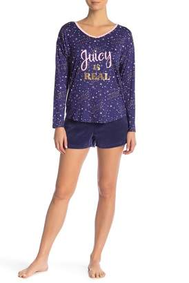 Juicy Couture Pajama Top & Shorts Set