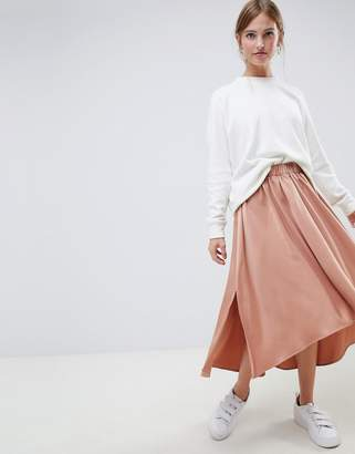 Minimum Moves By uneven hem midi skirt
