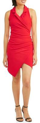 Almost Famous Juniors' Asymmetric Blazer Dress
