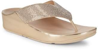 FitFlop Women's Crystall Metallic Flip-Flops