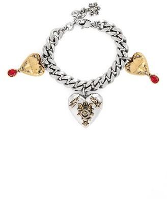 Women's Alexander Mcqueen Heart Charm Bracelet $995 thestylecure.com
