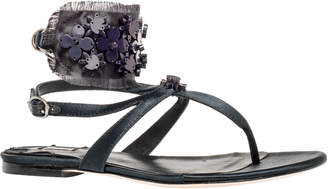 Max Studio votive : floral beaded satin flat sandals