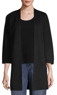 Eileen Fisher Simple Open Front Cardigan