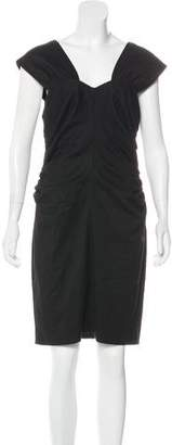 Robert Rodriguez Ruched Knee-Length Dress