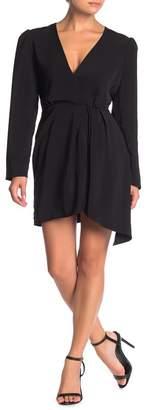 WAYF Banks Asymmetrical Hem Mini Dress