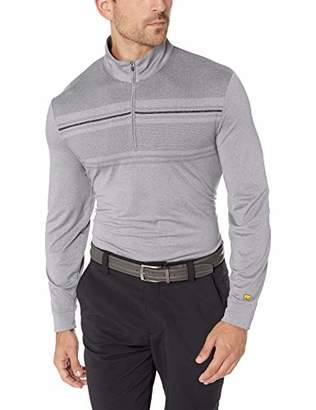 Jack Nicklaus Men's Lightweight 1/4 Zip Heathered Pullover with Pigment Print