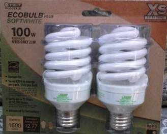 Feit Electric BPESL23T2/2/RP 100-Watt Equivalent Twists CFL Bulb by Electric