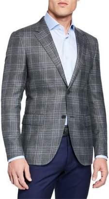 65c6f7e96 Ermenegildo Zegna Men's Cashmere/Silk Plaid Sport Coat