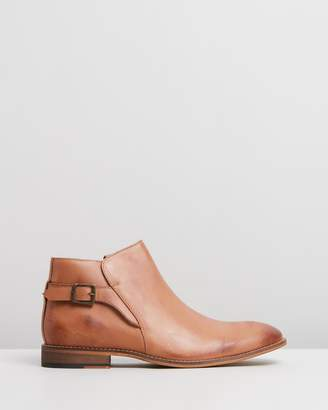 Ronnie Leather Buckle Boots