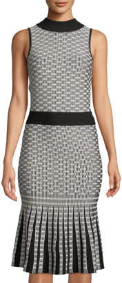 Alexia Admor Mock-Neck Sleeveless Fit-and-Flare Dress