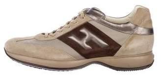 Hogan Suede Low-Top Sneakers