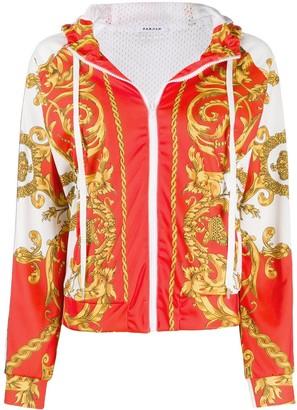 P.A.R.O.S.H. baroque print zipped hoodie