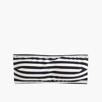J.Crew Tie-back bandeau bikini top in stripe