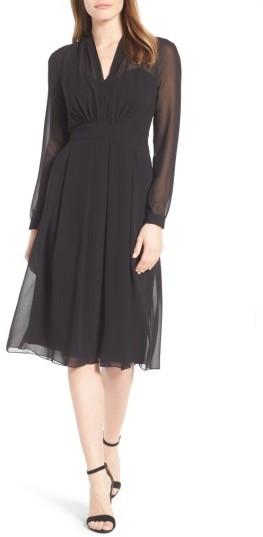 Anne KleinWomen's Anne Klein A-Line Chiffon Dress