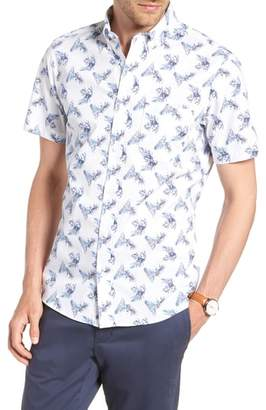 1901 Trim Fit Palm Print Sport Shirt