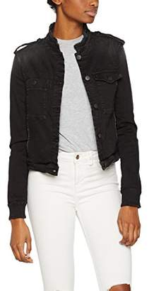 Replay Women's W7342 .000.437 914 Denim Long Sleeve Jacket - Black - Small