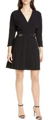 Karen Millen Pleat Faux Wrap Dress