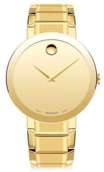 Movado Sapphire Stainless Steel Bracelet Watch