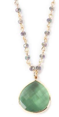 lonna & lilly Beaded Teardrop Pendant Necklace