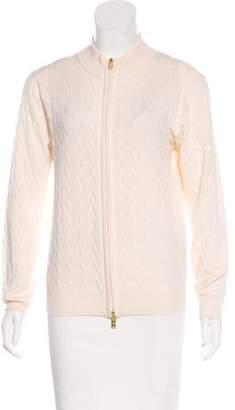 Peter Millar Wool Zip-Up Sweater