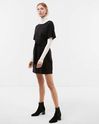 Express Front Tie Dolman Sleeve Dress
