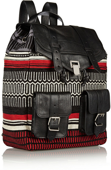 Proenza Schouler PS1 jacquard and leather backpack
