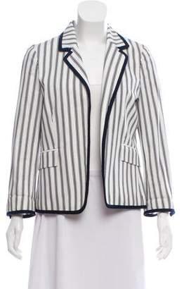 Tory Burch Striped Poplin Blazer