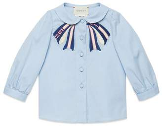 Gucci Baby cotton shirt with bow