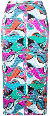 Emilio Pucci quilted pencil skirt