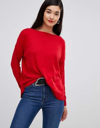French Connection Summer slash neck silk blend sweater